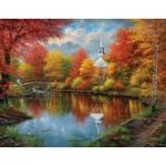 Puzzle  Sunsout-69606 XXL Pieces - Abraham Hunter - Autumn Tranquility