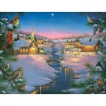 Puzzle  Sunsout-69609 XXL Pieces - Abraham Hunter - A Winter's Silent NIght