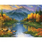 Puzzle  Sunsout-69611 XXL Pieces - Abraham Hunter - Mountain Retreat