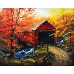 Puzzle  Sunsout-69623 XXL Pieces - Abraham Hunter - Over the River
