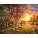 Puzzle  Sunsout-69651 Abraham Hunter - A Place to Call Home