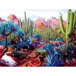 Puzzle  Sunsout-69936 Stephen Morath - Cactusland