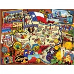 Puzzle  Sunsout-70024 Kate Ward Thacker - Texas: The Lone Star State