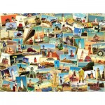 Puzzle  Sunsout-70064 Kate Ward Thacker - Northern Lighthouses