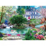 Puzzle  Sunsout-70630 XXL Pieces - Waterside Tea