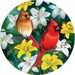 Puzzle  Sunsout-70965 XXL Pieces - Cardinals in the Round