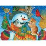 Puzzle  Sunsout-71984 XXL Pieces - Snowman Cuddles