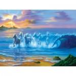 Puzzle  Sunsout-75551 Jim Warren - Wild Waves