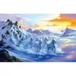 Puzzle  Sunsout-75559 Jim Warren - After the Snow Storm