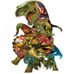 Puzzle  Sunsout-90426 XXL Pieces - Dennis Rogers - T Rex Attack