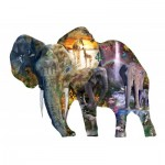 Puzzle  Sunsout-95015 Alixandra Mullins - Elephant Waterfall