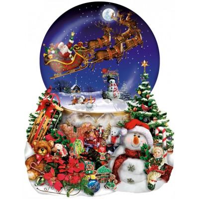 Puzzle Sunsout-95302 Lori Schory - Santa's Snowy Ride