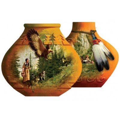 Puzzle Sunsout-95429 Roberta Wesley - Indian Pots