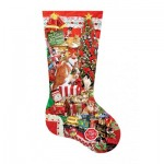 Puzzle  Sunsout-96014 XXL Pieces - Lori Schory - Kitty Stocking