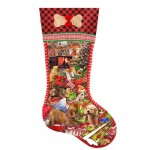 Puzzle  Sunsout-96028 XXL Pieces - Lori Schory - Puppy Stocking