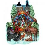Puzzle  Sunsout-96055 Parker Fulton - Forest Nativity