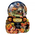 Puzzle  Sunsout-96064 XXL Pieces - Lori Schory - Halloween Globe