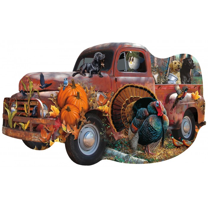 Jerry Gadamus & Cynthia Fisher - Harvest Truck 1000 piece jigsaw puzzle