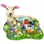 Puzzle  Sunsout-97041 XXL Pieces - Lamb Shop