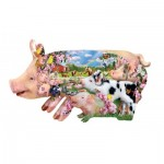Puzzle  Sunsout-97077 XXL Pieces - Lori Schory - Pig Farm