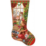 Puzzle  Sunsout-97111 Liz Goodrick Dillon - A Girl's Stocking