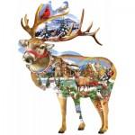 Puzzle  Sunsout-97295 Lori Schory - Reindeer Training