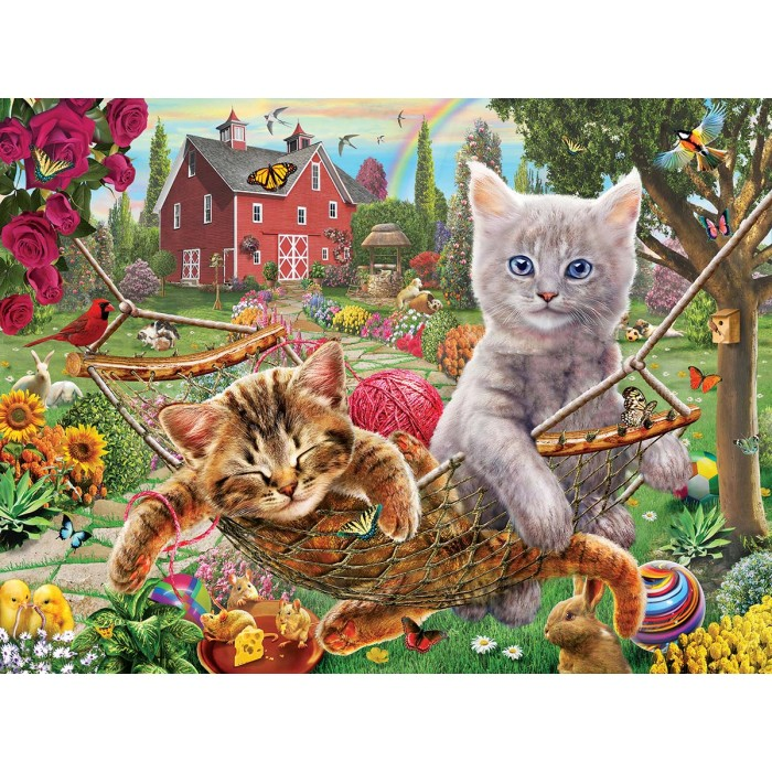 Adrian Chesterman - Cats on the Farm Puzzle 1000 Pieces