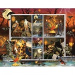 Puzzle   Halloween Stamps: Skeleton Dance