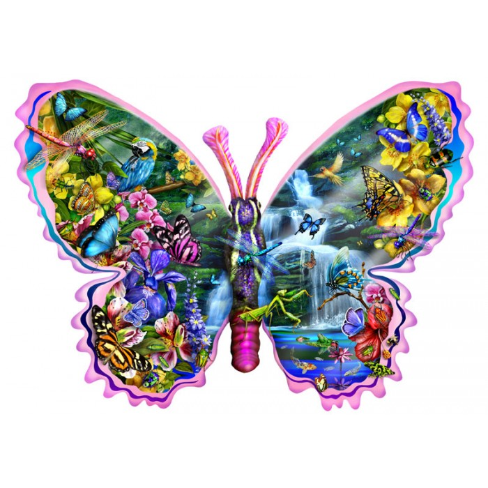 Lori Schory - Butterfly Waterfall Puzzle 1000 pieces