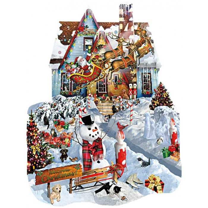 Lori Schory - Christmas at our House Puzzle 1000pieces