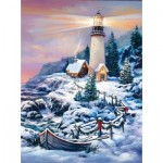 Puzzle   Sandra Bergeron - Christmas Lighthouse
