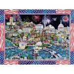 Puzzle   Sharie Hatchett Bohlmann - Fireworks over Washington DC