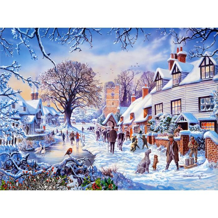 Steve Crisp - A Village in Winter Puzzle 1000 pieces