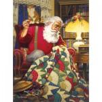 Puzzle   Tom Newsom - Quilting Santa