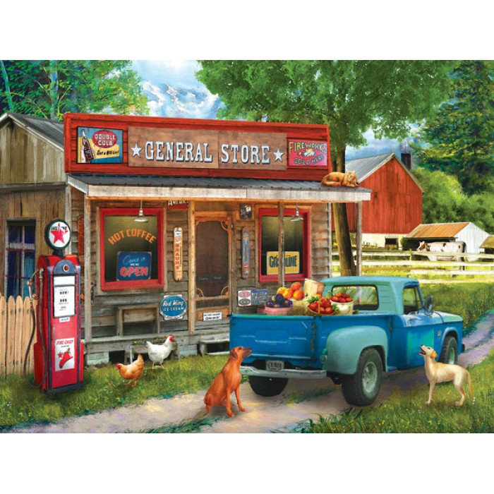 Tom Wood - A Stop at the Store Puzzle 1000	pieces