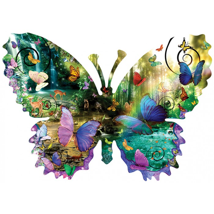 XXL Pieces - Alixandra Mullins - Forest Butterfly Puzzle 1000 pieces
