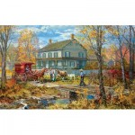 Puzzle   XXL Pieces - Autumn at the Schneider House
