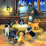 Puzzle   XXL Pieces - Barnyard Nativity
