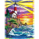 Puzzle   XXL Pieces - Dolphin Bay Lighthouse