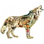 Puzzle   XXL Pieces - Greg Giordano - Native American Wolf