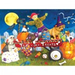 Puzzle   XXL Pieces - Halloween Puppies