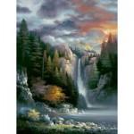 Puzzle   XXL Pieces - James Lee - Misty Falls