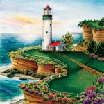 Puzzle   XXL Pieces - Lighthouse Sunset