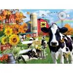 Puzzle   XXL Pieces - Lori Schory - Dairy Farm