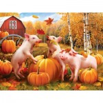 Puzzle   XXL Pieces - Pigs & Pumpkins