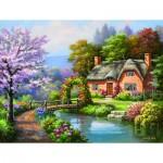 Puzzle   XXL Pieces - Spring Creek Cottage