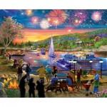 Puzzle   XXL Pieces - Summer Fireworks