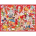 Puzzle   XXL Pieces - Valentine Card Collage