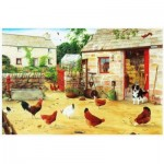 Puzzle  The-House-of-Puzzles-1295 Happy Hens