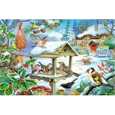 Puzzle The-House-of-Puzzles-1400 XXL Pieces - Feed The Birds